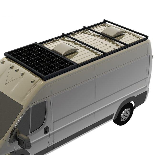 Support de toit complet avec panneau solaire - 4 traverses - RAM Promaster 159WB