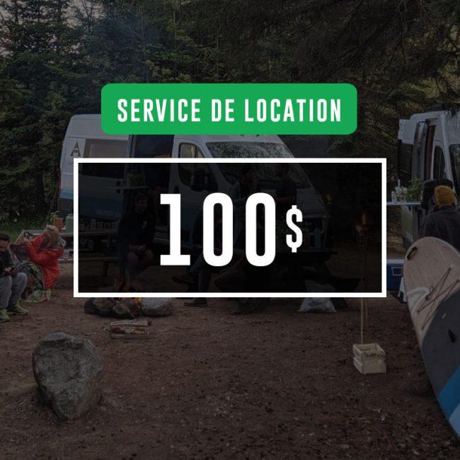 Certificat-cadeau de 100$ : Service de location VanLife MTL